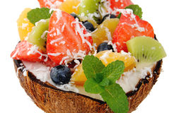 Fruit mixed dessert Royalty Free Stock Images
