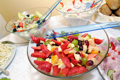 Fruit mixture in a bowl Royalty Free Stock Photos