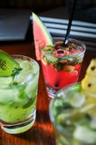 Fruit Mojitos close up Royalty Free Stock Images