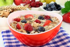 Fruit Muesli Royalty Free Stock Photography