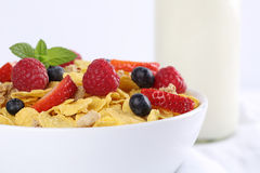 Fruit muesli for breakfast Stock Photos