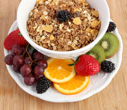 Fruit and muesli cereals Stock Image