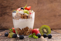 Fruit and muesli Royalty Free Stock Images