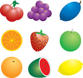 Fruit n veg. Illustration of a number of fruit and veg that could be used as a background Royalty Free Stock Images