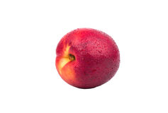 Fruit nectarine with drops Stock Photo