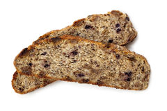 Fruit and Nut Bread Isolated Royalty Free Stock Image