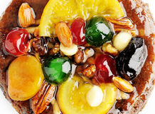 Fruit and Nut Cake Stock Images