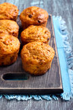 Fruit and nut homemade muffins Stock Photo
