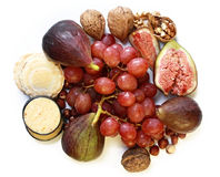 Fruit and nut platter Stock Image