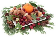 Fruit Nut and Spice Assortment Stock Photo