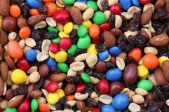 Fruit and nut trail mix Royalty Free Stock Photo