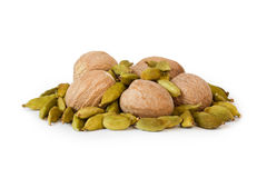 Fruit nutmeg and cardamom Royalty Free Stock Image
