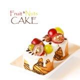 Fruit&Nuts蛋糕。 免版税库存图片