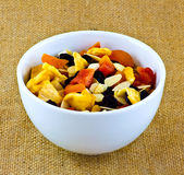 Fruit and nuts Royalty Free Stock Photo
