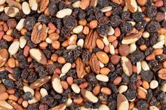 Fruit and Nuts Mixture stock images