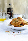 Fruit and oat cookies Stock Images