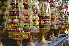 Fruit Offering in Bali Stock Images