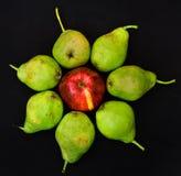 Fruit op zwarte Stock Foto's