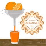 The fruit orange. Abstract vector illustration logo whole ripe fruit yellow orange cut sliced,glass background.Orange drawing consisting of tag label peel fruits Royalty Free Stock Photo