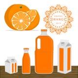 The fruit orange. Abstract vector illustration logo whole ripe fruit yellow orange cut sliced,glass background.Orange drawing consisting of tag label peel fruits Stock Photos