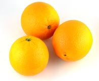 Fruit orange d'isolement Images stock