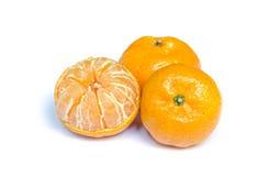Fruit orange d'isolement sur le blanc Photos libres de droits