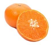 Fruit orange d'isolement sur le fond blanc image libre de droits