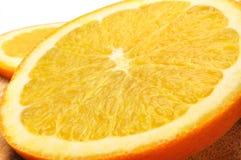 Fruit orange d'isolement sur le fond blanc Images stock