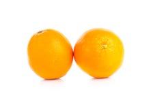 Fruit orange d'isolement sur le fond blanc Photo libre de droits