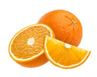 Fruit orange d'isolement sur le fond blanc Images libres de droits