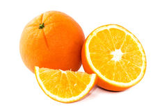 Fruit orange d'isolement sur le fond blanc Image stock