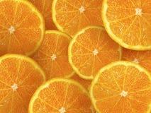 Fruit orange Fond orange entier à moitié orange orange de tranches Photo libre de droits