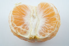 Fruit orange frais avec le fond blanc Photo libre de droits