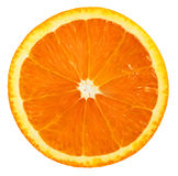 Fruit orange Part orange d'isolement sur le fond blanc Image stock