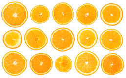 Fruit orange set Royalty Free Stock Image