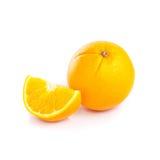 Fruit orange sur le fond blanc Image stock