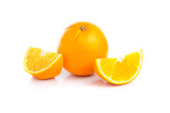 Fruit orange sur le fond blanc Photographie stock