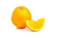 Fruit orange sur le fond blanc Photo libre de droits