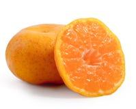 Fruit orange sur le fond blanc Images stock