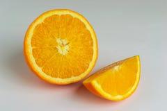 Fruit orange sur le fond blanc Photo stock