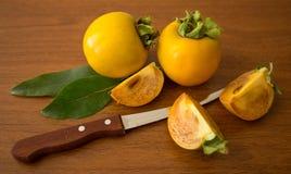 Fruit oriental de kaki Images stock