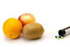 Fruit ou pharmacie Images stock