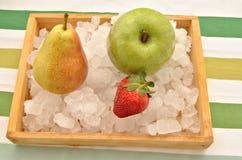 Fruit over verpletterd ijs Royalty-vrije Stock Afbeelding