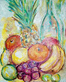 Fruit painting Royalty Free Stock Image