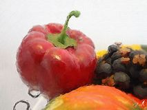fruit painting Royalty Free Stock Photography