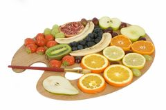 Fruit palette Stock Photography