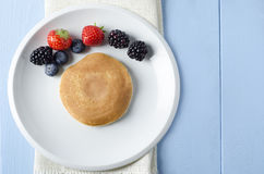 Fruit Pancake Breakfast Overhead Royalty Free Stock Images