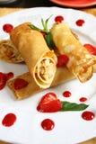 Fruit pancakes Royalty Free Stock Photography