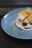 Fruit pancakes Royalty Free Stock Photos