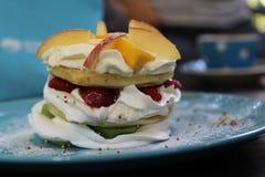 Fruit pancakes Stock Photo